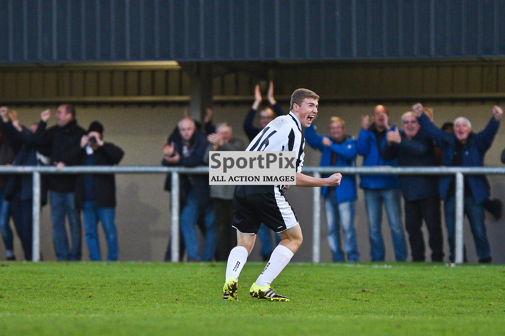 Marc Lawrence, Fraserburgh United, celebrates his goalf Unitedl in the 2nd Round of Scottish Cup at The Haughs, Turriff. (c) Brian Battensby, SportPix.org.uk