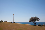 The path and minimalist landscape on the Coogee to Bondi beach Coastal walk