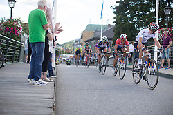 Anouska Koster (NED) of Rabo-Liv Cycling Team sits on her team mates wheel in the penultimate lap of the 117,5 km third stage of the 2016 Ladies' Tour of Norway women's road cycling race on August 13, 2016 between Svinesund, Sweden and Halden, Norway. (Photo by Balint Hamvas/Velofocus)