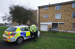 © London News Pictures. 12/11/2011. London, UK. A flat on Coronation Square in Reading, Berkshire sealed off by police today (12/11/2011) where the body of a 38-year-old woman was found. A 46-year-old man is currently in police custody  after he handed himself into a police station and pointed detectives to the body . Photo Credit : Ben Cawthra/LNP