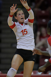 31 Aug 2010: Kristin Stauter. The Illinois State Redbirds trumped the Rambles of Loyola-Chicago 3 sets to none at Redbird Arena on the campus of Illinois State University in Normal Illinois.