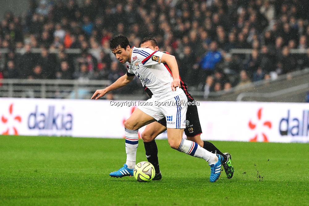Yoann GOURCUFF - 21.03.2015 - Lyon / Nice - 30eme journee de Ligue 1 -<br />Photo : Jean Paul Thomas / Icon Sport