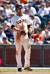 May 30, 2010; San Francisco, CA, USA;  San Francisco Giants center fielder Andres Torres (56) at bat against the Arizona Diamondbacks during the seventh inning at AT&T Park.  San Francisco defeated Arizona 6-5 in 10 innings.