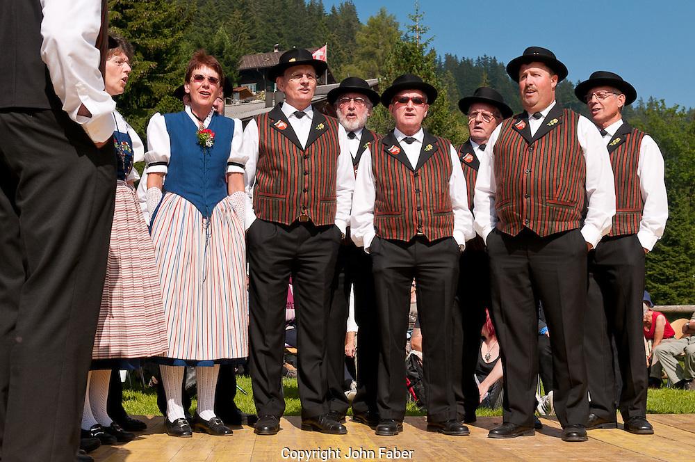 Jodlerclub Weggis am 1.Augustfeier in Rigi Kaltbad