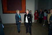 MAGGI HAMBLING; TORY LAURENCE, Mark Rothko private view. Tate Modern. 24 September 2008 *** Local Caption *** -DO NOT ARCHIVE-© Copyright Photograph by Dafydd Jones. 248 Clapham Rd. London SW9 0PZ. Tel 0207 820 0771. www.dafjones.com.