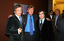 Left to right, PRINCE FRANZ VON AUERSPERG, artist GEORGE CONDO and PRINCE ERNST OF HANOVER at an exhibition of paintings by artist George Condo entitled 'Religious Paintings' held at the Spruth Magers Lee Gallery, 12 Berkeley Street, London W1 on 12th October 2004.<br />