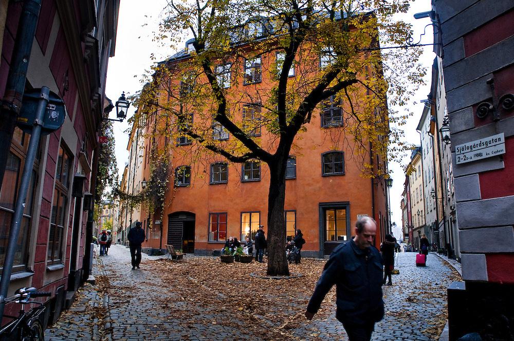 Street Scene Old Town (Gamla Stan), Stockholm