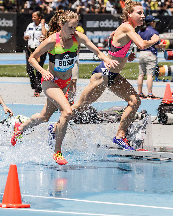 adidas Grand Prix Diamond League Track & Field: womens 3000m steeplechase, Nicole Bush, USA, New Balance