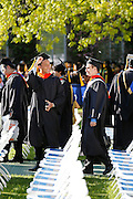 Students enter the quad at the University of Rochester's Commencement Ceremony on Sunday, May 18, 2014.