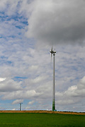 Wind turbines in Rural Germany Near the Swiss border
