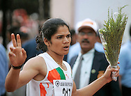"""15.06.2012, India: PINKI PRAMANIK CHARGED WITH RAPE.Indian runner Pinki Pramanik who won a gold medal in the women's 4x400m relay at the 2006 Asian Games has been arrested on rape charges, leveled by a woman who claims the former athlete is actually a man..Picture Shows: Pinki Pramaik competing at the Asian Games in Pune, India on May 26, 2006..Mandatory Credit Photo: ©Solaris/NEWSPIX INTERNATIONAL..(Failure to credit will incur a surcharge of 100% of reproduction fees)..                **ALL FEES PAYABLE TO: """"NEWSPIX INTERNATIONAL""""**..IMMEDIATE CONFIRMATION OF USAGE REQUIRED:.Newspix International, 31 Chinnery Hill, Bishop's Stortford, ENGLAND CM23 3PS.Tel:+441279 324672  ; Fax: +441279656877.Mobile:  07775681153.e-mail: info@newspixinternational.co.uk"""