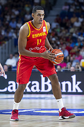 September 17, 2018 - Madrid, Spain - Sebastian Saiz of Spain during the FIBA Basketball World Cup Qualifier match Spain against Latvia at Wizink Center in Madrid, Spain. September 17, 2018. (Credit Image: © Coolmedia/NurPhoto/ZUMA Press)