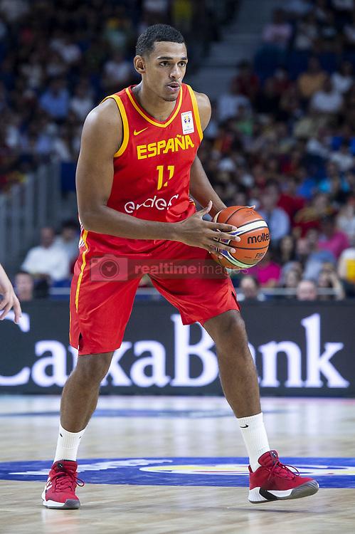 September 17, 2018 - Madrid, Spain - Sebastian Saiz of Spain during the FIBA Basketball World Cup Qualifier match Spain against Latvia at Wizink Center in Madrid, Spain. September 17, 2018. (Credit Image: © Coolmedia/NurPhoto/ZUMA Press)