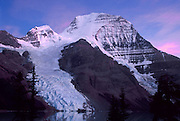 Berg Glacier and Berg Lake are a scenic backpacking destination in Mount Robson Provincial Park of British Columbia, Canada. Mount Robson (3954 meters or 12,972 feet) is the highest point in the Canadian Rockies, and is part of the Rainbow Range. Mount Robson is part of the Canadian Rocky Mountain Parks World Heritage Site declared by UNESCO in 1984.