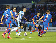 Dundee's Gary Harkins is surrounded by Inverness Caledonian Thistle defenders - Inverness Caledonian Thistle v Dundee, SPFL Premiership at Tulloch Caledonian Stadium<br /> <br />  - &copy; David Young - www.davidyoungphoto.co.uk - email: davidyoungphoto@gmail.com