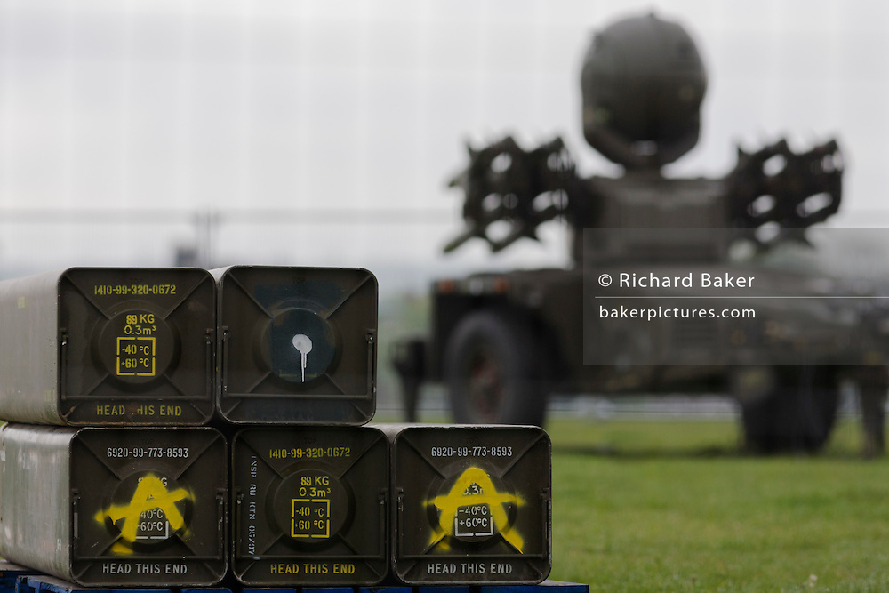 Cases of Rapier surface-to-air missiles stationed on Blackheath, a security measure in readiness for the London 2012 Olympic games.