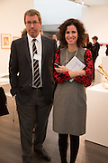 MARC GLIMCHER; MOLLIE DENT-BROCKLEHURST, VIP Opening of Frieze Masters. Regents Park, London. 9 October 2012