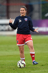Bristol Academy's Alex Hurst warms up before the FA Women's Super League game between Bristol Academy Women and Notts County Ladies FC on 25 April 2015 in Bristol, England - Photo mandatory by-line: Paul Knight/JMP - Mobile: 07966 386802 - 25/04/2015 - SPORT - Football - Bristol - Stoke Gifford Stadium - Bristol Academy Women v Notts County Ladies FC - FA Women's Super League