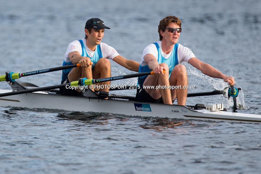 at the Rowing NZ Media Day, Lake Karapiro, Cambridge, New Zealand, Wednesday 6 May 2015. Photo: Stephen Barker/Photosport.co.nz