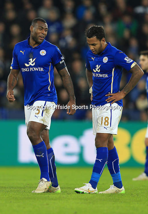3 January 2015 - The FA Cup 3rd Round - Leicester City v Newcastle United - Wes Morgan and Liam Moore of Leicester City - Photo: Marc Atkins / Offside.