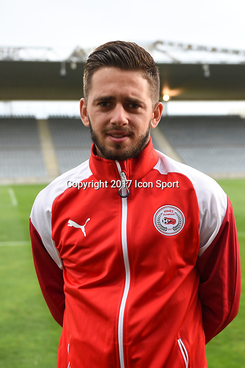 Theo Valls of Nimes during the Ligue 2 match between Nimes and Aj auxerre on September 15, 2017 in Nimes, France. (Photo by Alexandre Dimou/Icon Sport)