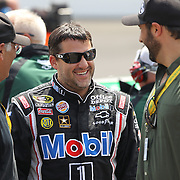30 July 2011: Sprint Cup Series driver Tony Stewart (14) having a little fun during the qualification session for the Brickyard 400 NASCAR Sprint Cup Series race at the Indianapolis Motor Speedway in Indianapolis, IN