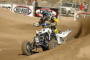 Doug Gust (#55) on the new Suzuki Quadracer earned a 2nd Place finish at the ATVA Round #1 Nationals at Glen Helen.