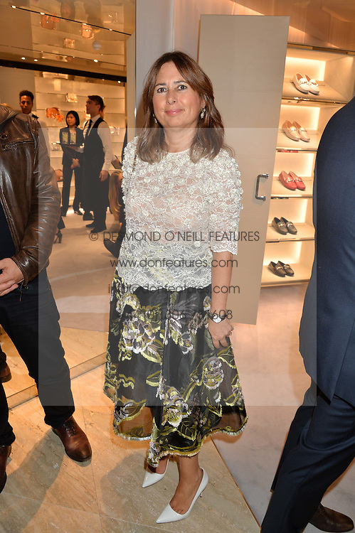 ALEXANDRA SHULMAN at a dinner hosted by Tod's to celebrate the refurbishment of their store 2-5 Old Bond Street, London on 15th September 2016.