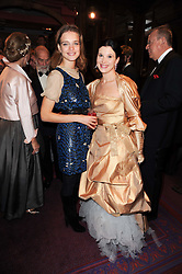 Left to right, Natalia Vodianova and Olga Balakleets at 'Homage to Nureyev' a tribute to the legendary ballet dancer Rudolf Nureyev performed at the ENO, London COliseum, St.Martin's Lane, London on 21st March 2010.