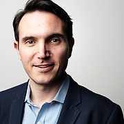 April 17, 2018 - New York, NY : The Wirecutter's David Perpich poses for a portrait at the New York Times building on Tuesday evening. The New York Times hosted Bill Nye for a conversation about climate change with New York Times science writer James Gorman and NYC Rising producer Geraldine Moriba. CREDIT: Karsten Moran for The New York Times