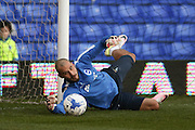Brighton goalkeeper, Niki Maenpaa (1)  during the Sky Bet Championship match between Birmingham City and Brighton and Hove Albion at St Andrews, Birmingham, England on 5 April 2016. Photo by Simon Davies.