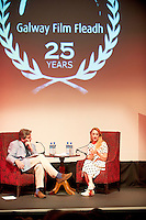 "14/07/2013  Saoirse Ronan  at the 25th Galway Film Fleadh at the Town Hall Theatre in Galway for ""An Afternoon with Saoirse Ronan hosted by Arena's Sean Rocks. Picture:Andrew Downes"