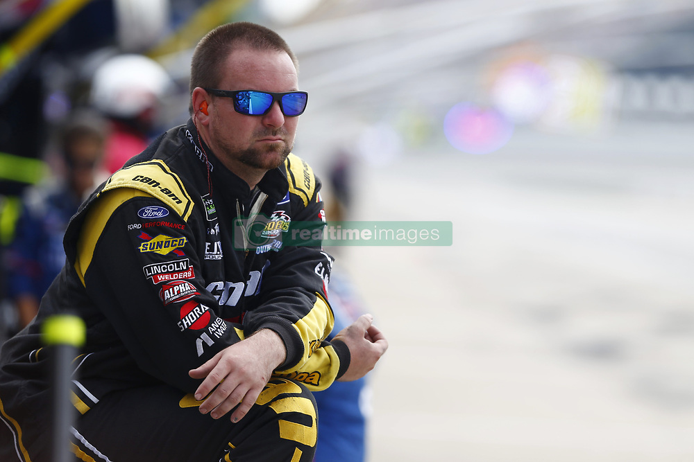 August 12, 2018 - Brooklyn, Michigan, United States of America - A crew member for Matt DiBenedetto (32) works in the pits during the Consumers Energy 400 at Michigan International Speedway in Brooklyn, Michigan. (Credit Image: © Chris Owens Asp Inc/ASP via ZUMA Wire)