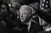 DISTRICT OF COLUMBIA - June 7, 2008:  Former U.S. President Bill Clinton works the rope line at the conclusion of his wife, U.S. Senator Hillary Clinton's announcement of the end of her presidential bid for the White House and for her endorsement and support of presumptive democratic nominee for president, Sen. Barack Obama on Saturday at the National Building Museum in Washington, DC.