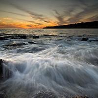 Sunset at Hulopo'e Beach Park, Lanai