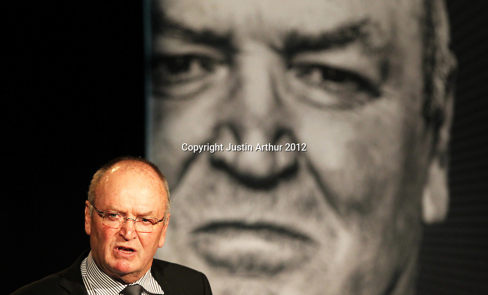 """Sir Graham Henry. The Mad Butcher Presents, """"Final Word: A Tribute to Sir Graham Henry"""" at the Amora Hotel, Wellington, New Zealand on Tuesday 7 August 2012. Photo: Justin Arthur / photosport.co.nz"""