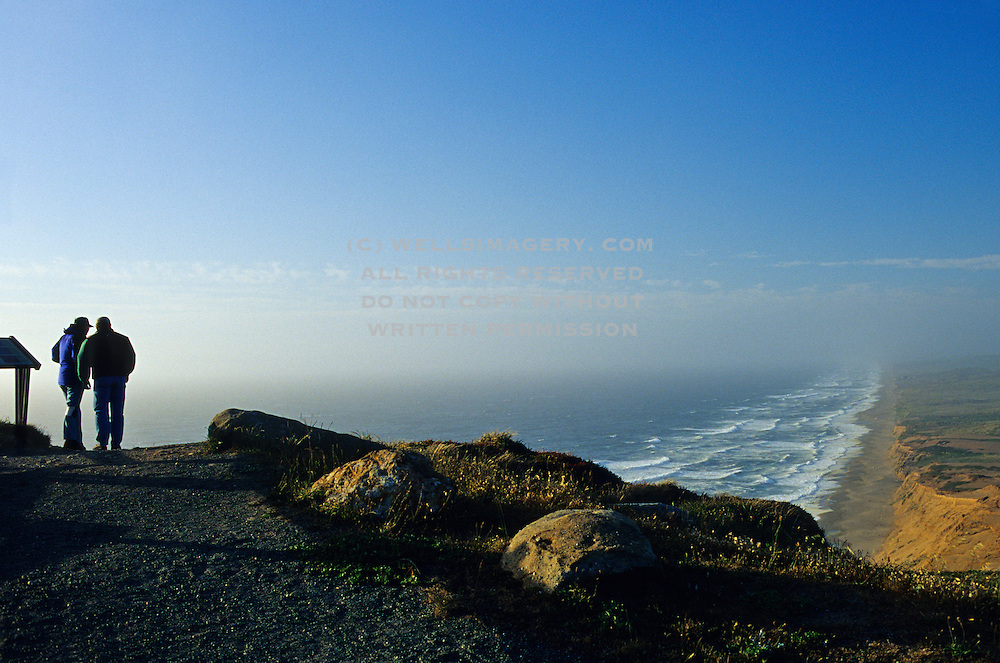 Image of a couple at Point Reyes National Seashore, California, America west coast