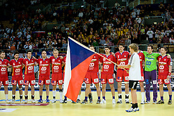 Team of Czech republic during the Men's Handball European Championship Main Round match between Slovenia and Czech republic at the Olympia Hall on January 24, 2009 in Innsbruck, Austria.  (Photo by Vid Ponikvar / Sportida) - on January 2010