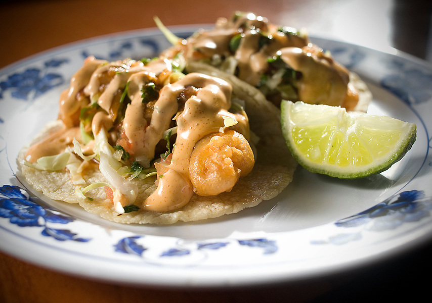 Fish Tacos from Taqueria El Zamorano in Santa Ana.<br /> ///ADDITIONAL INFORMATION: 75Best.TaqueriaElZamorano &ndash; 1/27/16 &ndash; NICK AGRO, ORANGE COUNTY REGISTER- BACKGROUND<br /> MAIN SHOT:  Bone marrow and biscuits dish. <br /> <br /> ---  BUT MUST be shot STRAIGHT DOWN OVER the plate. Please do NOT crop into the plate. Let the whole plate show.<br /> <br /> <br /> <br /> (***The reason we need the straight down, full plate (not cropped plate) overhead shot is it is planned to run with four other restaurant photos that will all look the same.)<br /> <br /> <br /> <br /> Then shoot a couple of Mike's suggested plates. You can shoot these other 2 dishes any angle and cropped anyway you want.