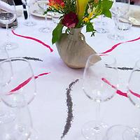 Table setting at the Relais & Chateaux La Cote Saint-Jacques