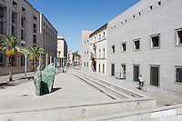 """PALERMO, ITALY - 7 JUNE 2016: Piazza della Memoria, a square withing the Palermo courthouse complex, is seen here in Palermo, Italy, on June 7th 2016.<br /> <br /> Between January 2014 e December 2015 more than 120 tons of hashish, carried on fishing boats or cargo ships from Morocco to Libya, were seized in the Strait of Sicily by Italy's Guardia di Finanza (Financial Police) thanks to an international police investigation named """"Operazione Libeccio"""", carried out by the GICO (Gruppo Investigativo Criminalità Organizzata, Organised Crime Investigation Group), a unit of the tax police of Palermo under the supervision of the DDA (Direzione Distrettuale Antimafia) of Palermo.<br /> <br /> """"What is happening in Libya is same historical occurrence that happened years ago in Afghanistan. Such as the Talibans who financed their terroristic activities with heroin trafficking for the purchase of weapons, the Caliphate is proposing the same terroristic strategy by purchasing and commercialising hashish in order to purchase weapons used in their war"""" Sergio Barbera, Deputy General Prosecutor of Palermo, said."""