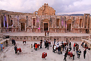 The ruins at Jerash, Jordan at sunset. Photography by Debbie Zimelman, Modiin, Israel