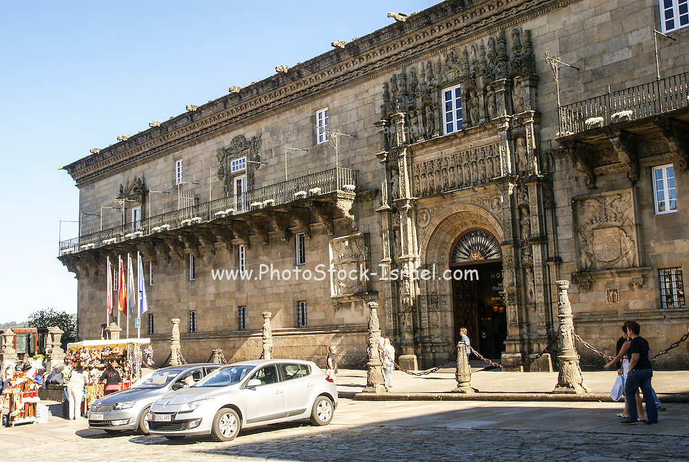 Praza do Obradoiro (Obradoiro Square). Santiago de Compostela, Galicia, Spain
