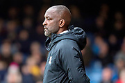 Southend United manager Chris Powell looking onto the pitch during the EFL Sky Bet League 1 match between Southend United and AFC Wimbledon at Roots Hall, Southend, England on 16 March 2019.