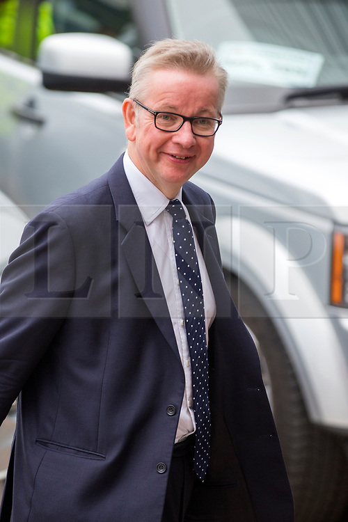 © Licensed to London News Pictures. 02/10/2018. Birmingham, UK. Michael Gove today at the Conservative party conference today being held at the International Convention Centre in Birmingham. Photo credit: Andrew McCaren/LNP
