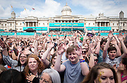 West End Live 2018 <br /> Trafalgar Square, London, Great Britain <br /> 16th June 2018 <br /> <br /> Excerpts from West End musicals perform live on stage in Trafalgar Square, London <br /> <br /> <br /> Audience <br /> <br /> Photograph by Elliott Franks