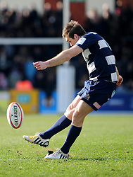 Bristol Fly-Half (#10) Adrian Jarvis - Photo mandatory by-line: Dougie Allward/JMP - Tel: Mobile: 07966 386802 31/03/2013 - SPORT - RUGBY - Memorial Stadium - Bristol. Bristol v Plymouth Albion - RFU Championship.