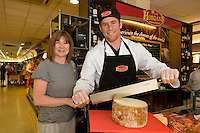 Imelda Cunnane, Barna and Connacht Rugby's Gavin Duffy,  at the opening of Horgan's Delicatessen Suppliers' first ever Food Emporium at Joyce's Supermarket, Knocknacarra, Co Galway.  The initiative marks Horgan's first Food Emporium Concept Store and cements a longstanding relationship with Joyce's Supermarket Group..Photo:Andrew Downes