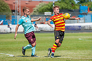 Partick Thistle's Craig Slater controls the ball  during the Pre-Season Friendly match between Partick Thistle and Heart of Midlothian at Central Park Stadium, Cowdenbeathl, Scotland on 8 July 2018. Picture by Malcolm Mackenzie.