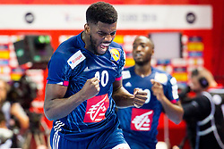 Dika Mem of France during handball match between National teams of Belarus and France on Day 4 in Preliminary Round of Men's EHF EURO 2018, on January 16, 2018 in Arena Zatika, Porec, Croatia. Photo by Ziga Zupan / Sportida